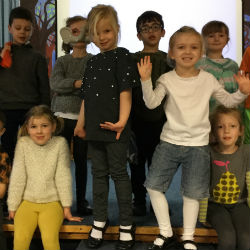 Year 1 boys and girls celebrate our differences