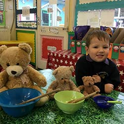 Happy and purposeful in the Upper Nursery