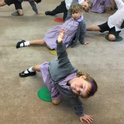 Reception children take to Yoga