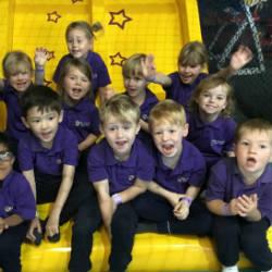 Reception children enjoy their first school trip.