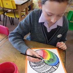 Art lessons – Paint blending with watercolours